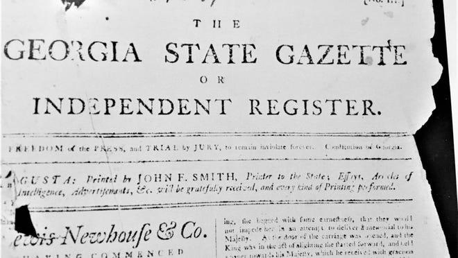 The Augusta Chronicle began as the Georgia State Gazette.