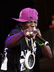 Flavor Flav of Public Enemy performs on stage on day two of the Falls Music & Arts Festival on December 30, 2010 in Lorne, Australia.