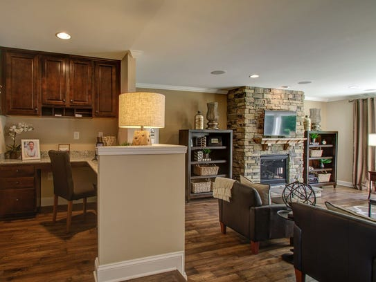 The living area in a Pulte home. Pulte has two communities