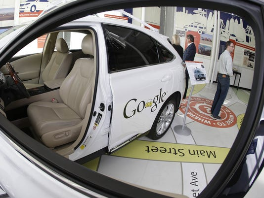 AP GOOGLE'S DRIVERLESS CARS A F USA CA