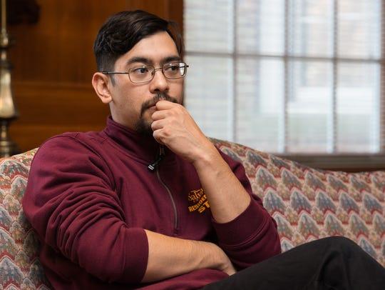 Salisbury University graduate student David Garcia talks about graduate assistant tuition waivers.