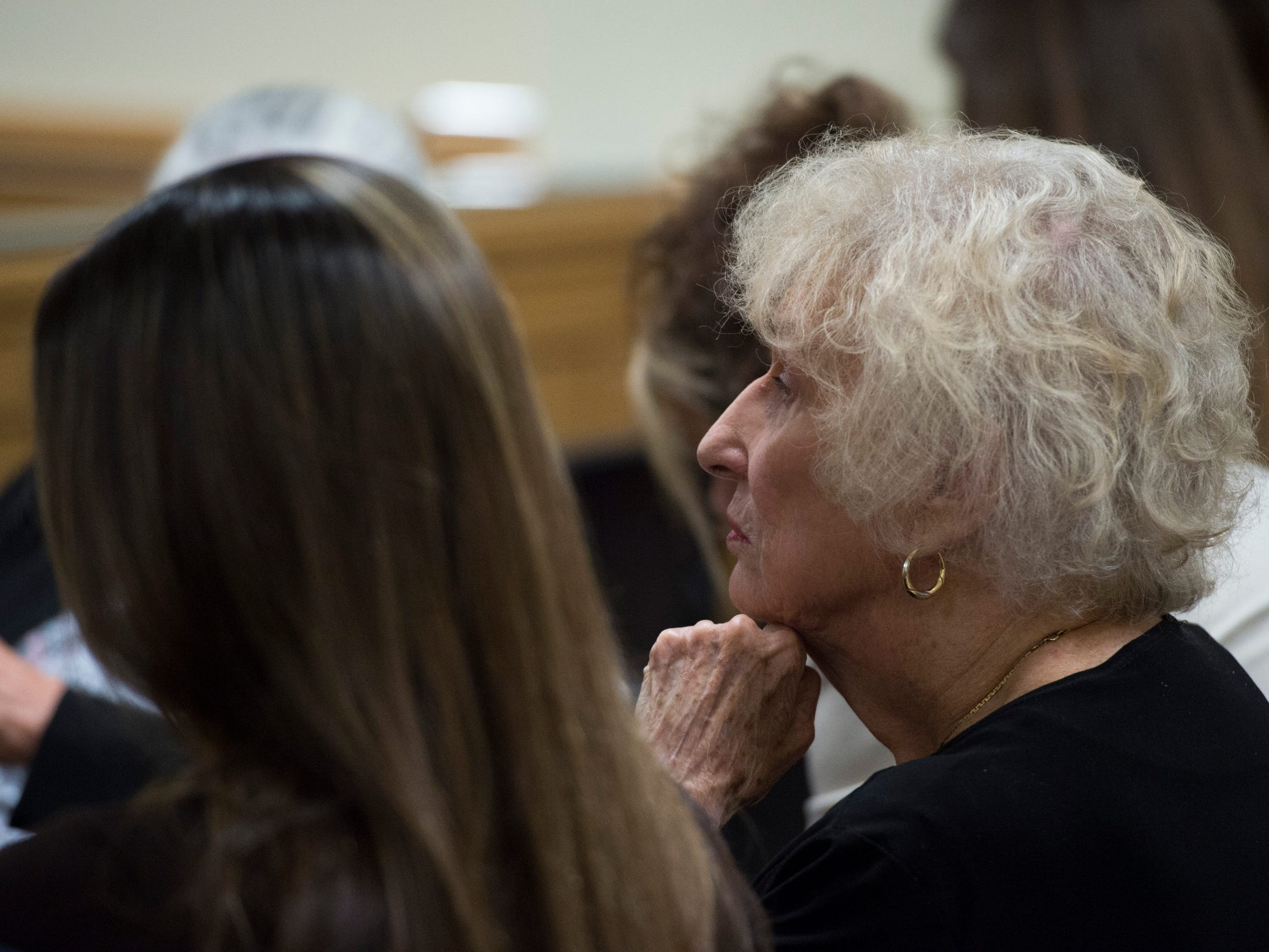 Relatives of murder victim Gertrude Trbovich, a 66-year-old who was killed in 1977, attend a resentencing hearing for killer James Morgan on Monday, June 11, 2018 at the Martin County Courthouse in Stuart. Despite four murder trials, four death sentences, one parole hearing and being sentenced to a life term, Morgan, 57, is eligible for a resentencing because of a recent court ruling regarding juvenile murderers.