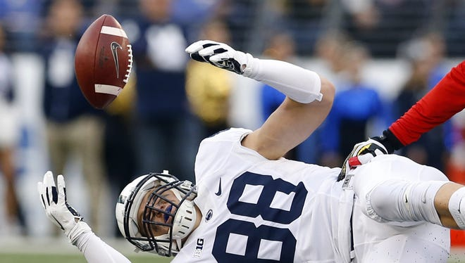 Can tight end Mike Gesicki put his struggles behind this spring? Penn State needs him to ...