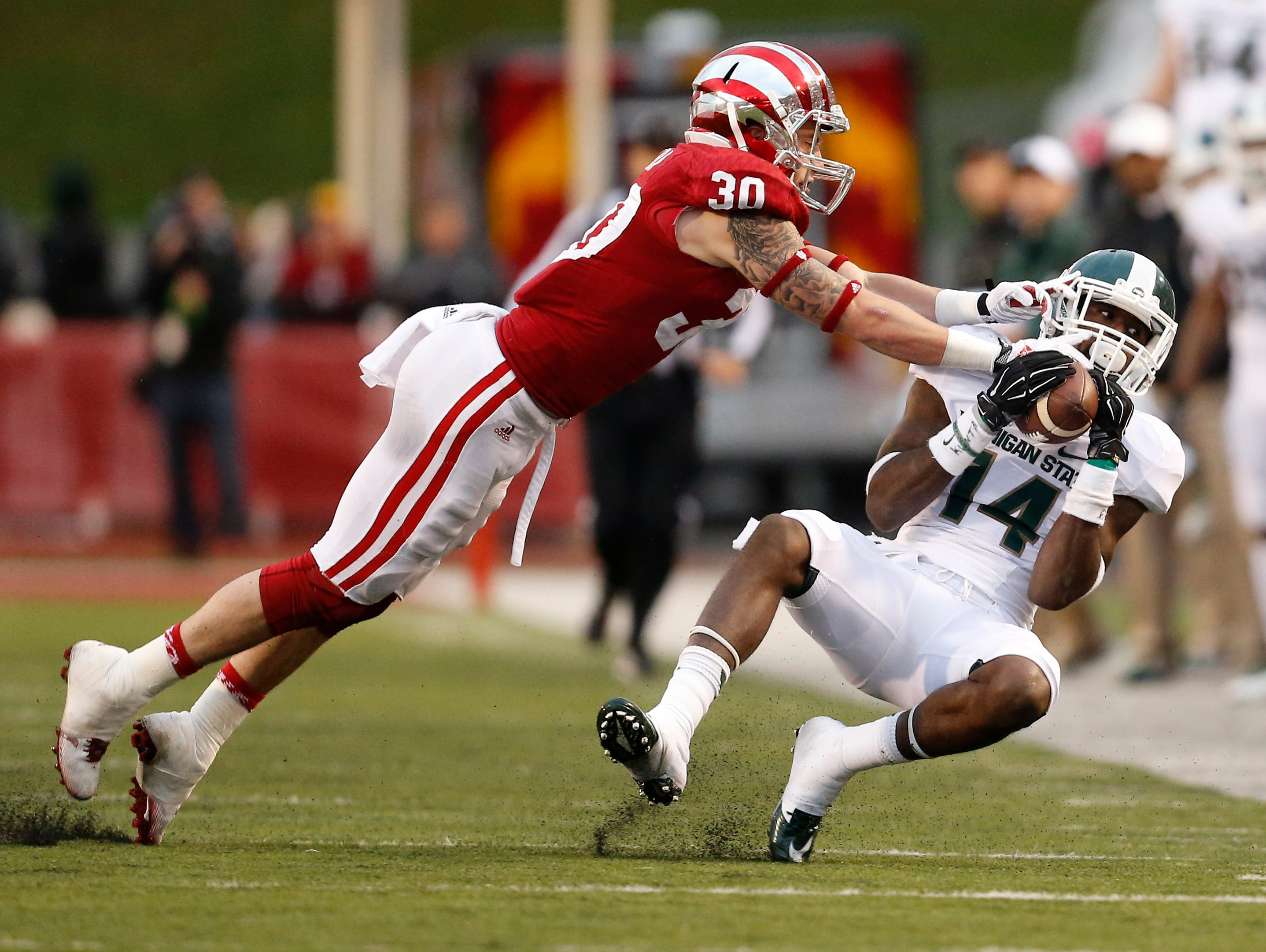 Indiana safety Chase Dutra