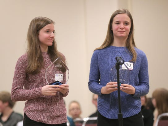 Maggie (left) and sister Katie (right) placed first