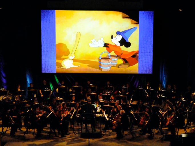 The Lancaster Festival Orchestra performs during Disney Fantasia Live in Concert Thursday night, July 24, 2014, at Fairfield Christian Church in Lancaster.