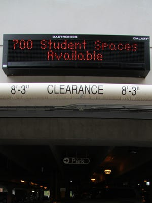 Students in a rush to park can have a slight ease of mind if they haven't received a parking ticket in the last 12 months.