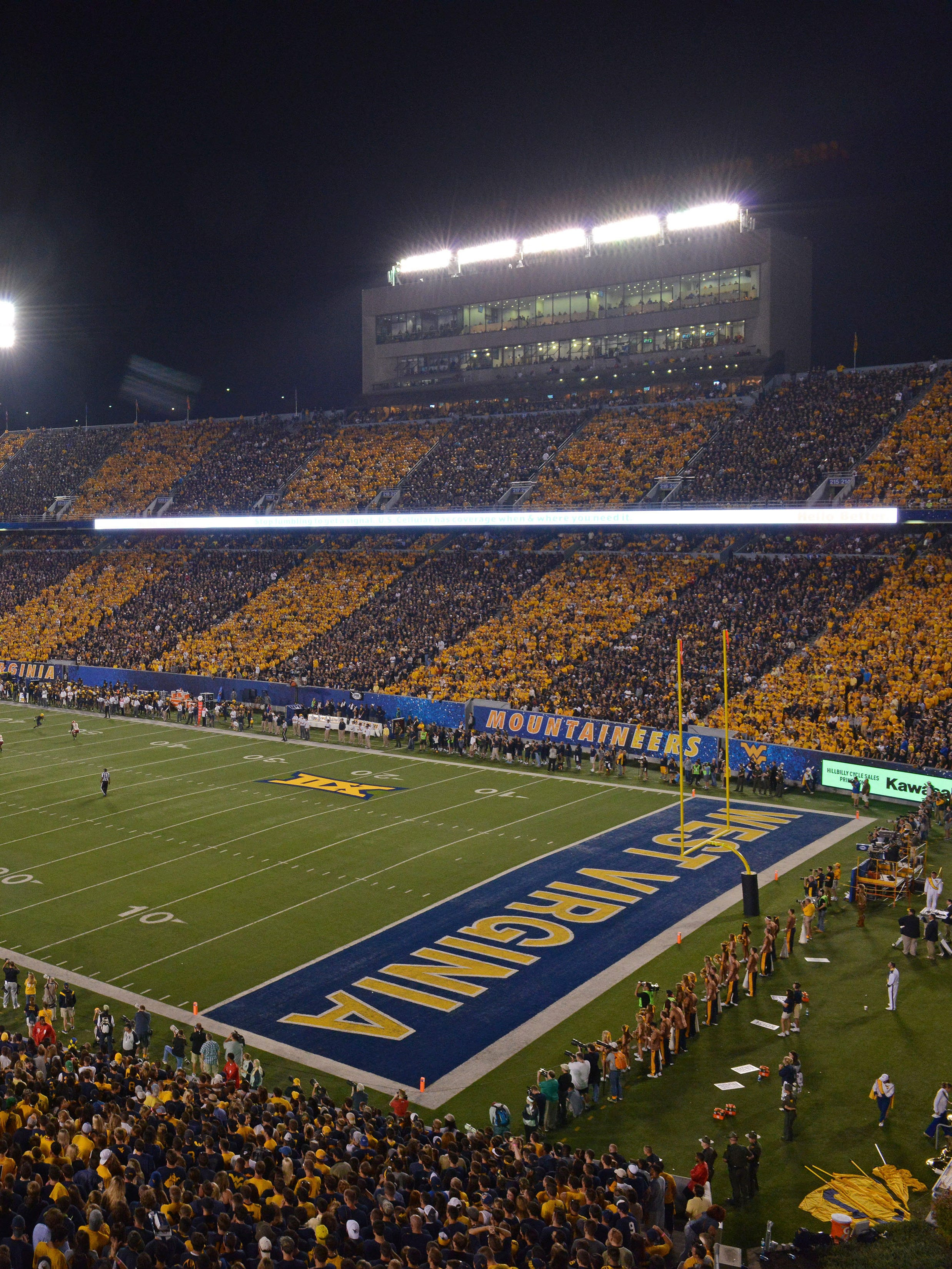 Big 12 Football Man Jumps Off Wall During West Virginia