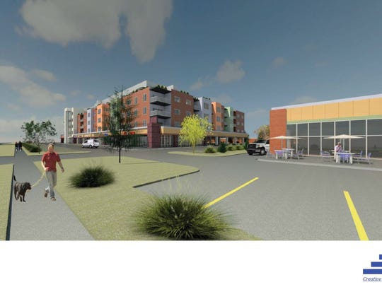 A conceptual rendering shows what the Roughwood development