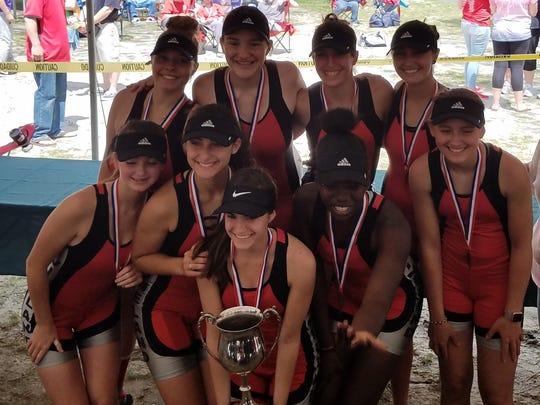 Vineland's 8JV team of Carly Mayhew, Grace Panzini,