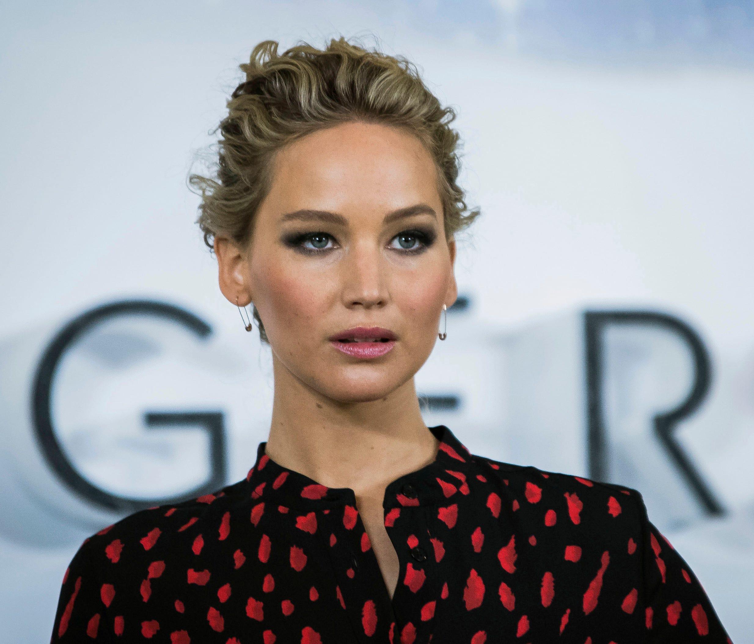Jennifer Lawrence promoting 'Passengers' in London On Dec. 1, 2016.