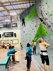 Rock climbers participate in a recent Counselor's Climb.