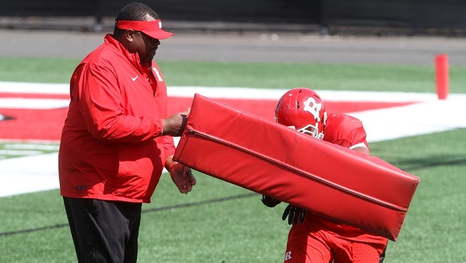 Norries Wilson during Rutgers spring football practice.
