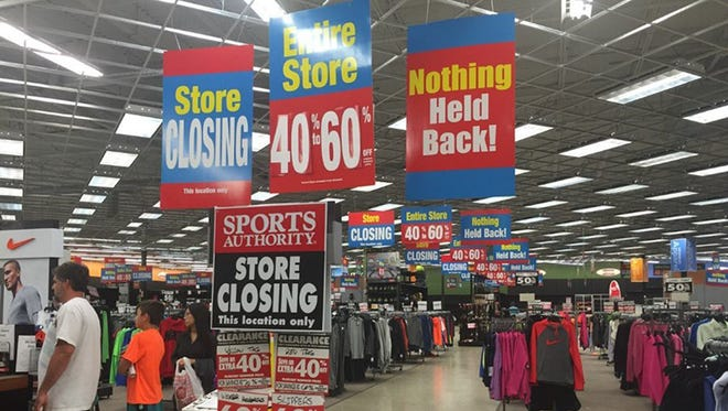 The liquidation sale started at the Sports Authority in Port St. Lucie, Fla., in early March. Discounts at the store now range between 40% to 60% off.