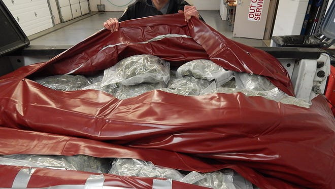 Ohio State Highway Patrol troopers seized 200 pounds of marijuana worth approximately $1 million on Nov. 22 in Preble County.