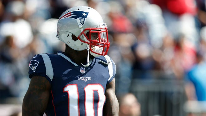 New England Patriots wide receiver Josh Gordon.