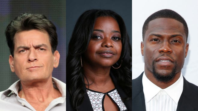 Charlie Sheen, Octavia Spencer and Kevin Hart were among the celebrities taking to Twitter to discuss Ferguson, Mo.