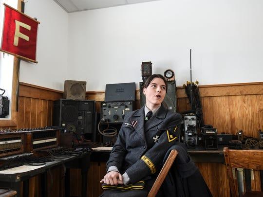 Hopthelfern Sarah Bennett at German Headquarters at