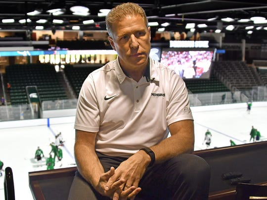 Danton Cole (pictured) took over the Michigan State hockey program after Tom Anastos resigned in March.