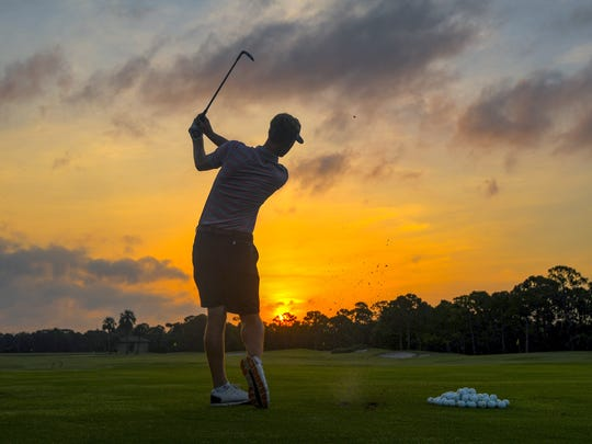 In this photo provided by USGA, Tyson Alexander hits during sectional qualifying for the U.S. Open golf tournament at The Bear's Club in Jupiter on Monday, June 4, 2018. Qualifying for the 2019 U.S. Senior Open begins Friday, June 7, at The Bear's Club.