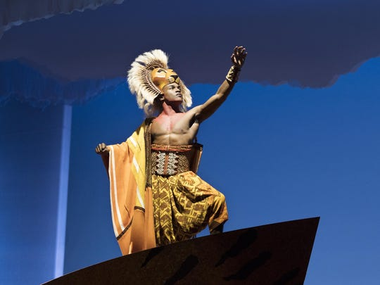 """Gerald Caesar as """"Simba"""" in THE LION KING North American Tour."""