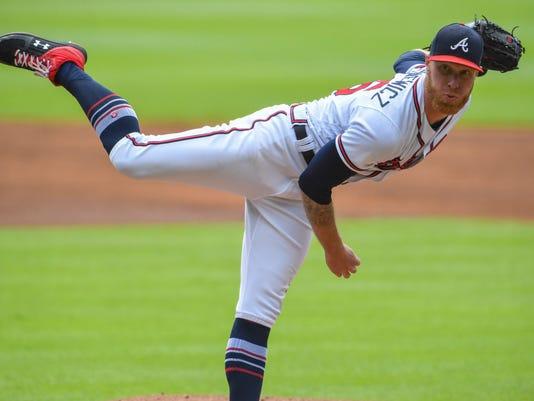 USP MLB: BOSTON RED SOX AT ATLANTA BRAVES S BBN ATL BOS USA GA