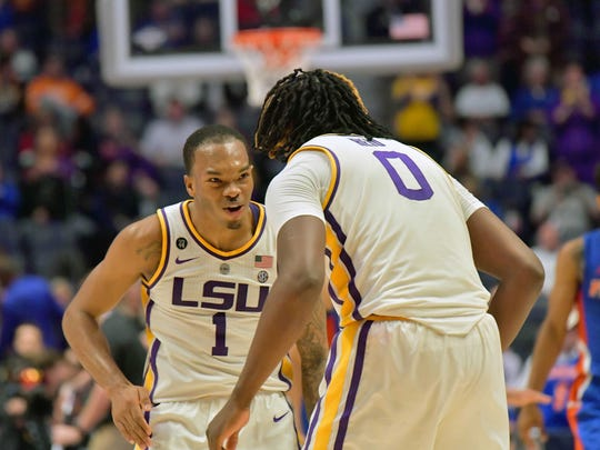 Even without coach Will Wade, Javonte Smart (1) and Naz Reid (0) make LSU a dangerous team in the NCAA Tournament.