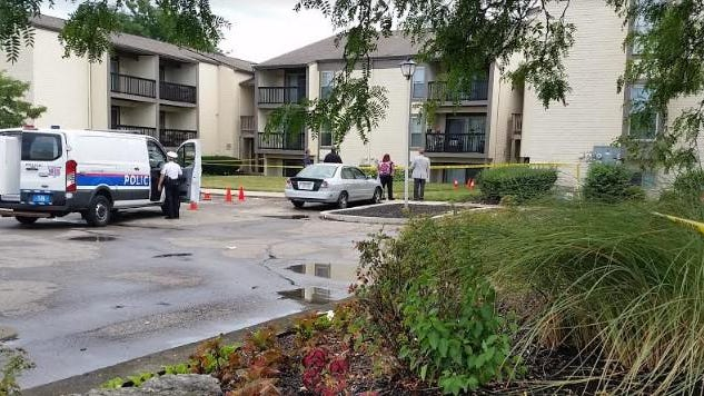 Columbus police on the scene of a fatal shooting Monday afternoon, Aug. 3, 2020, at The Reserves at Sharon Woods apartment complex on the Northeast Side off Route 161.