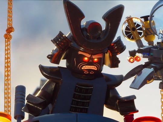 Lord Garmadon (voiced by Justin Theroux) attacks Ninjago