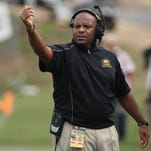 Grambling football coach Broderick Fobbs is the winner of the 2014-15 Eddie Robinson Award.