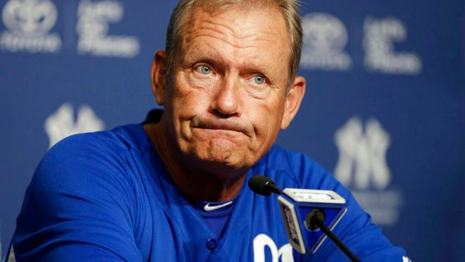 "From July 9, 2013, Kansas City Royals interim hitting coach and Hall of Famer George Brett discusses the pine tar game in which Brett was called out for using a bat on which pine tar exceeded the 18-inch limit, during a news conference at Yankee Stadium in New York. Nearly three decades after it became known simply as ""The Pine Tar Game,"" a veritable treasure trove of memorabilia from that memorable Royals-Yankees game is coming to auction for the first time."