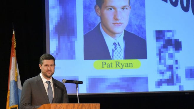 Ulster County Executive Patrick Ryan delivered his first state of the county speech on Thursday at his alma mater, Kingston High School.