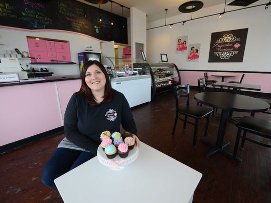 Michelle Axford of The Cupcake Couture on Broadway in De Pere.