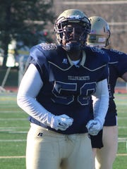 Sophomore lineman Christian Love and his Detroit Country