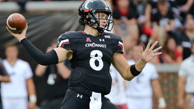 Quarterback Hayden Moore and his University of Cincinnati football teammates will begin 2018 spring practice Monday.