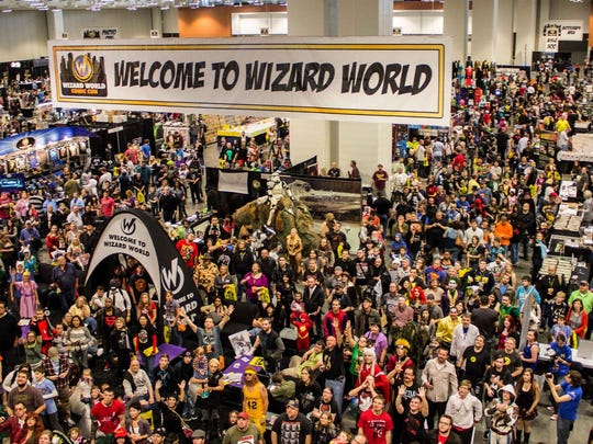 The convention floor at a Wizard Word Comic Con.