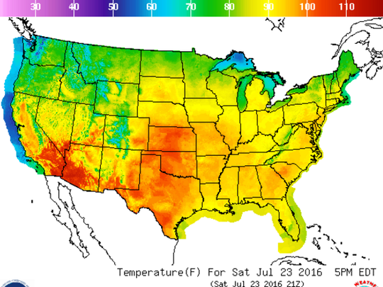 It'll be hot in most of the country this weekend.