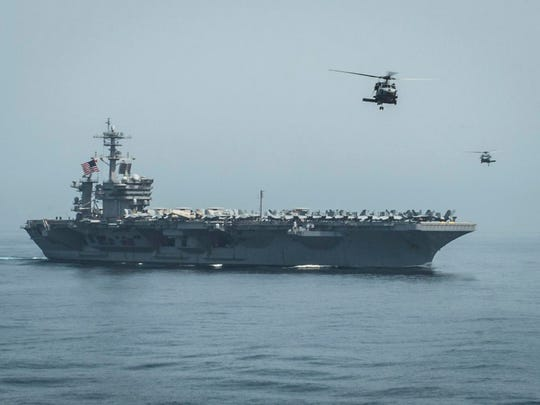 Last year, the USS Theodore Roosevelt and its escorts participated in Exercise Northern Edge, a major Army, Navy and Air Force exercise held in the Gulf of Alaska.
