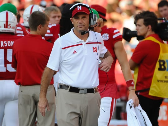 Nebraska coach Mike Riley and the Cornhuskers look