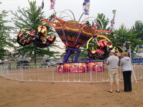 The Tornado ride at the 2014 Wisconsin Valley Fair