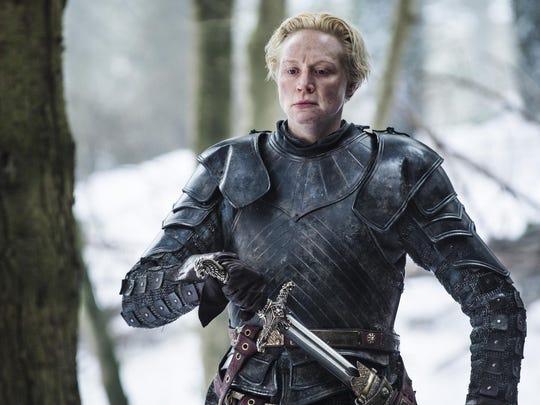 Pictured: Gwendoline Christie as Brienne of Tarth