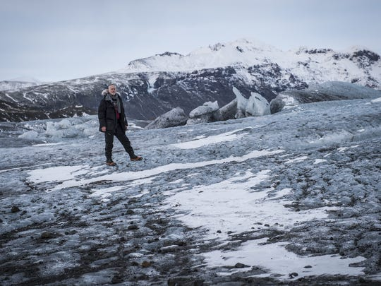 Director Alan Taylor takes in the breathtakingly beautiful Icelandic landscape featured in Sunday's episode of HBO's 'Game of Thrones.'
