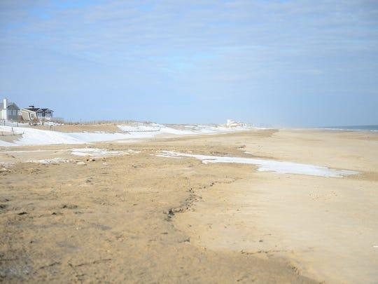 Fenwick Island beach on Wednesday, Jan. 11, 2018.