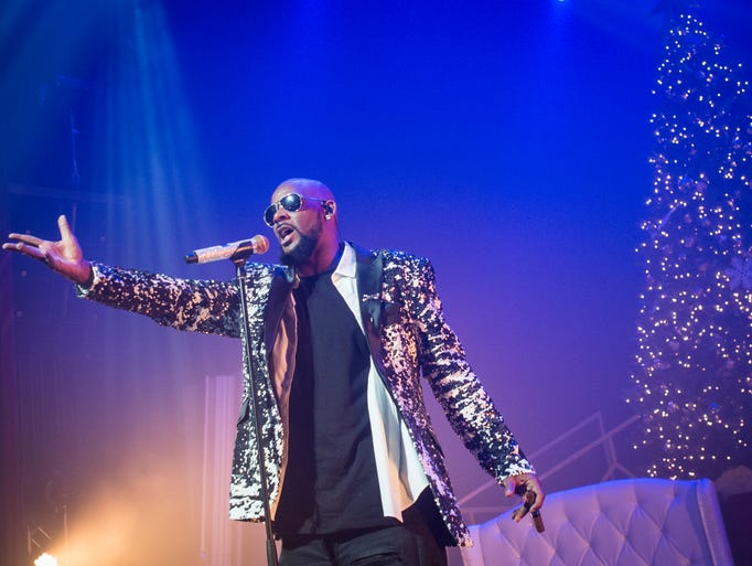 R&B star R. Kelly performed in Milwaukee Sunday, as