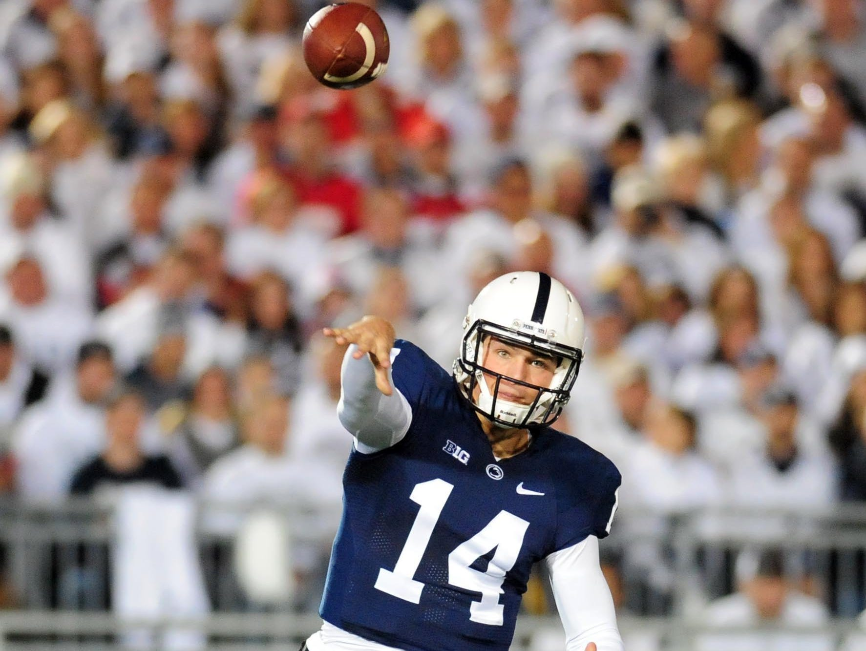 Quarterback Christian Hackenberg struggled this year behind an inexperienced offensive line.