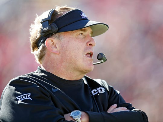 TCU coach Gary Patterson was still chewing on who will be the team's starting quarterback as of last week.