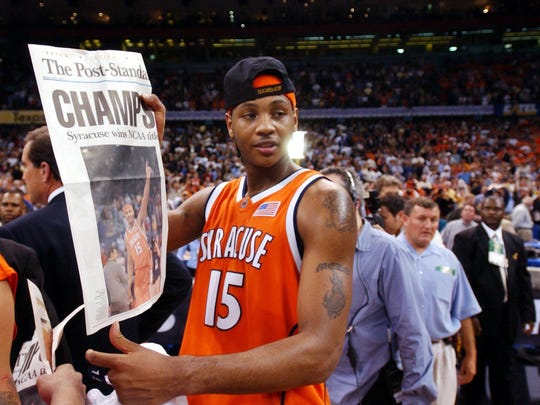 Carmelo Anthony was named the Most Outstanding Player as Syracuse won the national championship in 2003.