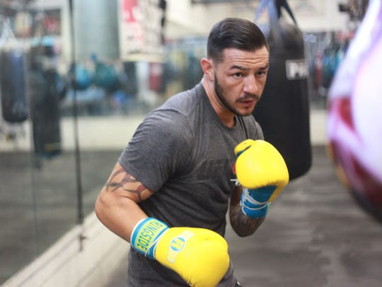 Cub Swanson during a training session at Indio Boys and Girls Club on June 29, 2016. He will fight Tatsuya Kawajiri in August.