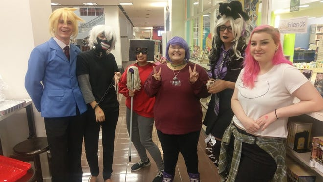 Teens attend a monthly manga mixer at La Retama Central Library. The upcoming mixer highlights Valentine's Day.