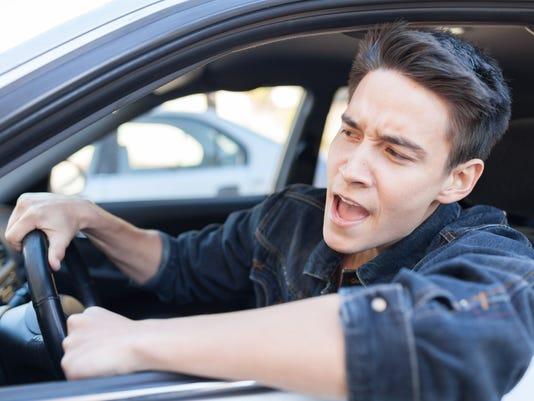 Irritated driver